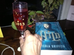 wine and book