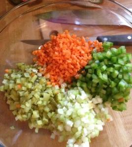 cook choped vegs